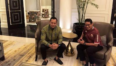 Jejaki Koalisi Pilpres 2019, AHY-Sandiaga Diam-diam Mengadakan Pertemuan