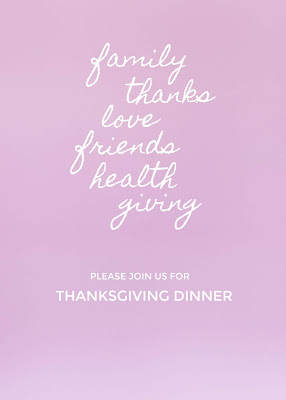 free printable pastel Thanksgiving invitations