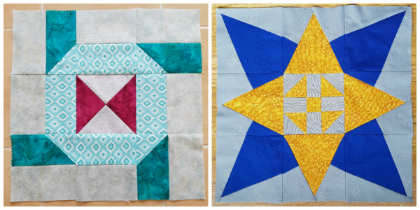 Connections and Layered Star quilt blocks | DevotedQuilter.blogspot.com