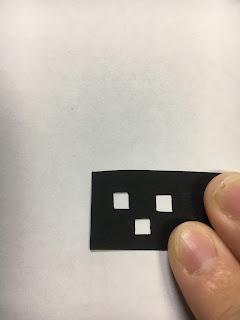 切り絵のきれいな角の切り方解説(成功例)
