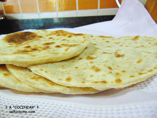 Tortillas de trigo tres ingredientes