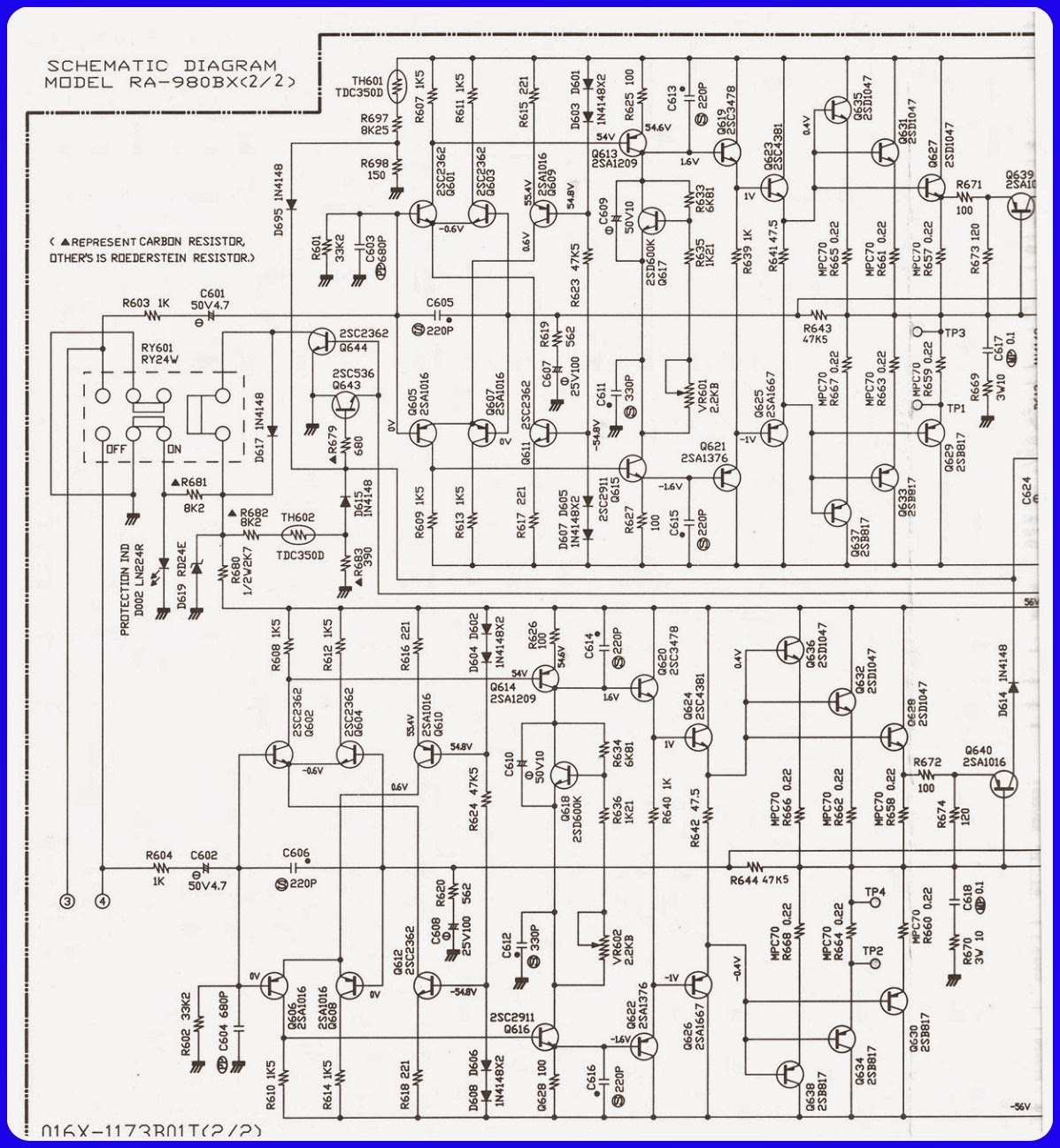 ELECTRONIC EQUIPMENT REPAIR CENTRE : ROTEL RA 980BX REPAIR