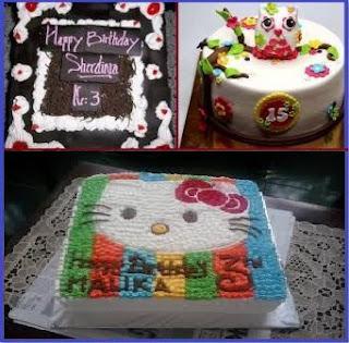 Kue Ulang Tahun Anak Perempuan Berbentuk Hello Kitty
