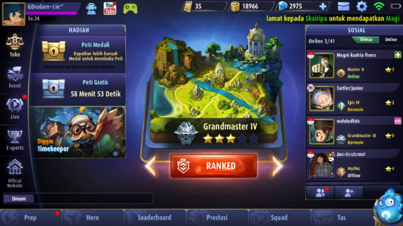 Jasa Top Up Diamond Mobile Legends Android dan iOS ~ MEG Store - Bang Droid