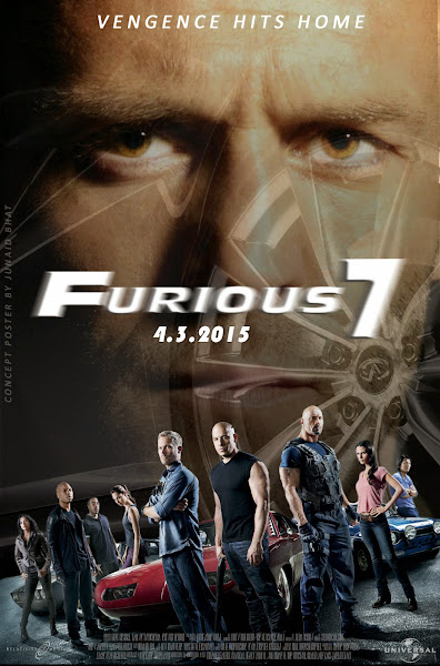 Poster of Furious Seven 2015 ExTended 720p Dual Audio BluRay With ESubs Download