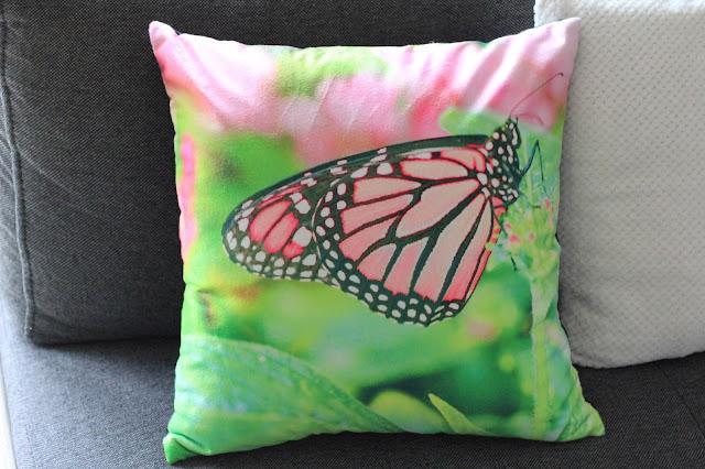 poszewka motyl kwiaty
