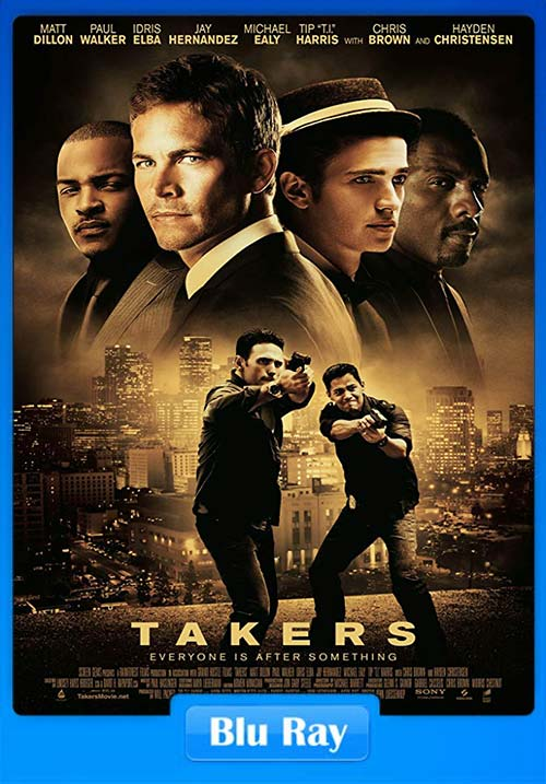 Takers 2010 720p BluRay Dual Audio Hindi English x264 | 480p 300MB | 100MB HEVC