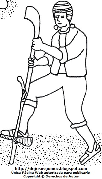 Dibujo de un campesino arando la tierra para colorear o pintar para niños  (Campesino trabajando bajo el sol). Dibujo del campesino hecho por Jesus Gómez