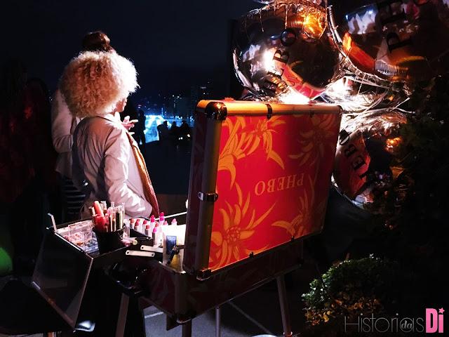 A PHEBO estava arrasando com seu camarim na Festa Glamurama