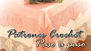 Mantel con bordes en crochet filet / paso a paso