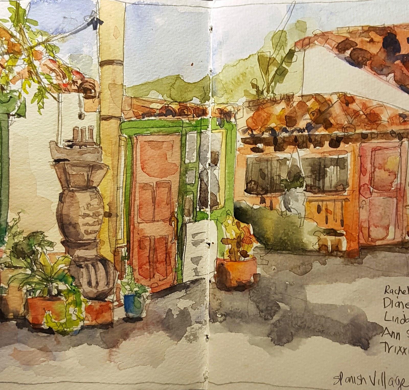 Spanish Village, Balboa Park, San Diego | Urban Sketchers