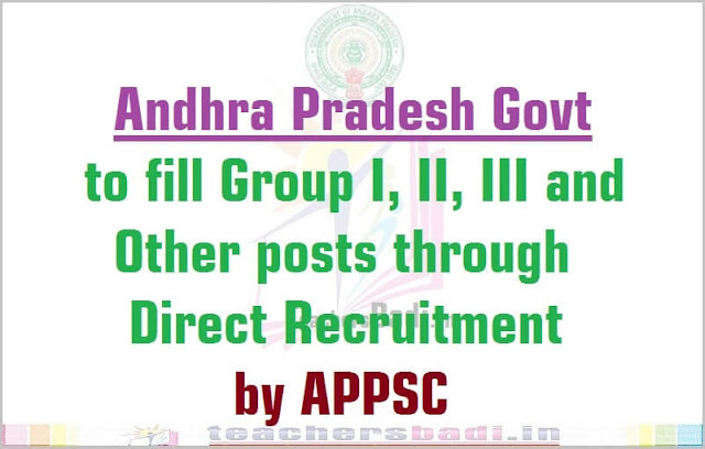AP Group I,II,III posts,APPSC Direct Recruitment