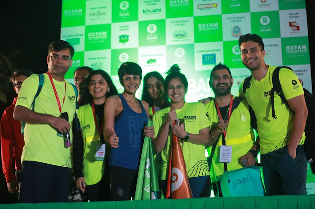 Actor Mandira Bedi flags off sixth edition of Oxfam India Trailwalker in Mumbai