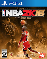 NBA 2K16 PS4 Michael Jordan Cover