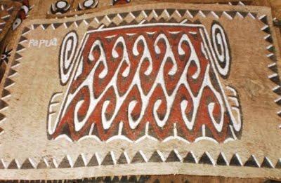 lukisan kulit kayu kombouw sentani berpotensi susul noken papua