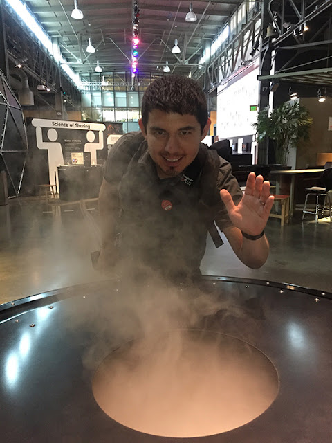 SF Exploratorium After Dark Indoor Smoke Ring Exhibit Experience