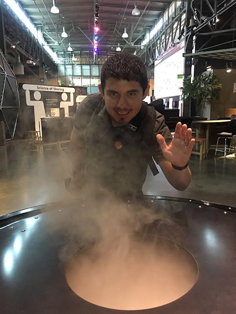 SF Exploratorium After Dark Indoor Smoke Ring Exhibit Experience
