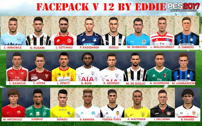 PES 2017 Facepack vol 12 by Eddie Facemaker