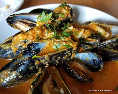 La Boca Santa Fe mussels with romesco broth