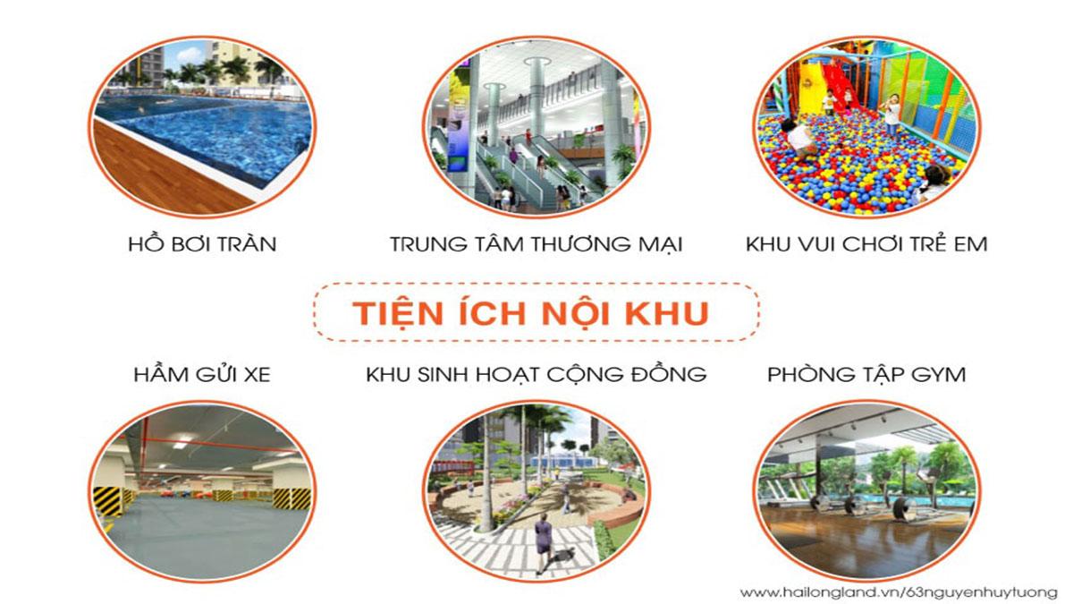 Tiện ích dự án 63 Nguyễn Huy Tưởng