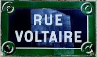 Pancarte rue Voltaire