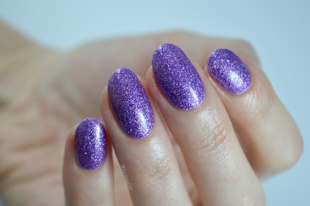 NCLA LET'S GO PARTY PURPLE GLITTER SWATCH