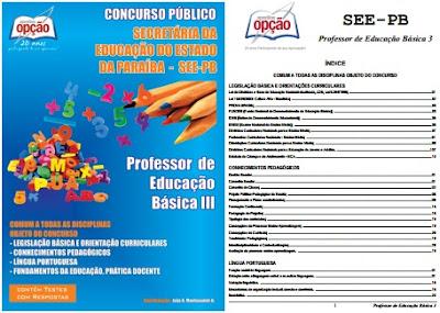 Apostila SEE PB Professor da Carreira do Magistério Estadual da Paraíba