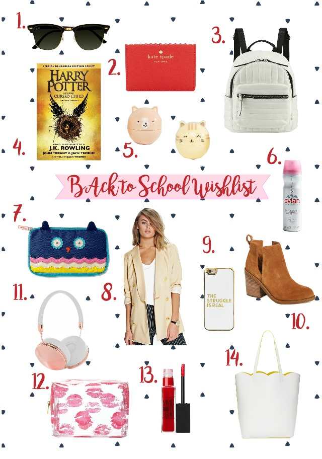 Back to School Wishlist 2016