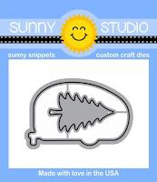 Sunny Studio Stamps: Happy Camper Die with bonus fir tree die