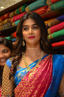 Puja Hegde looks stunning in Red saree at launch of Anutex shopping mall ~ Celebrities Galleries 044.JPG
