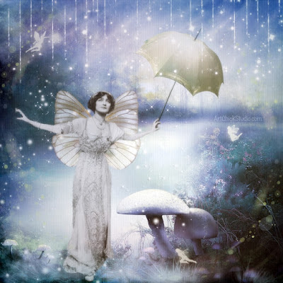 Rainy Day Fairy Art