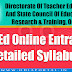 Odisha SCERT D.El.Ed (C.T.) - 2018 Online Entrance Detailed Syllabus