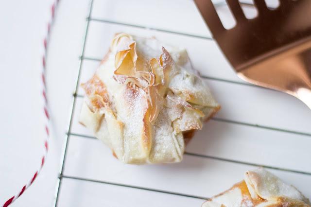 salted caramel filo parcels