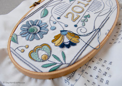 2019 Fabric Calendars embroidery kit by SeptemberHouse