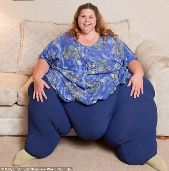 Very fat woman in the world