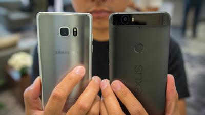 Note 7 وهاتف جوجل Nexus 6