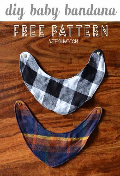 diy baby bandana free sewing pattern - easy sewing tutorial or beginner sewing project