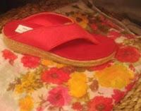 Alpargata sandalia de tela y fular con flores estampadas