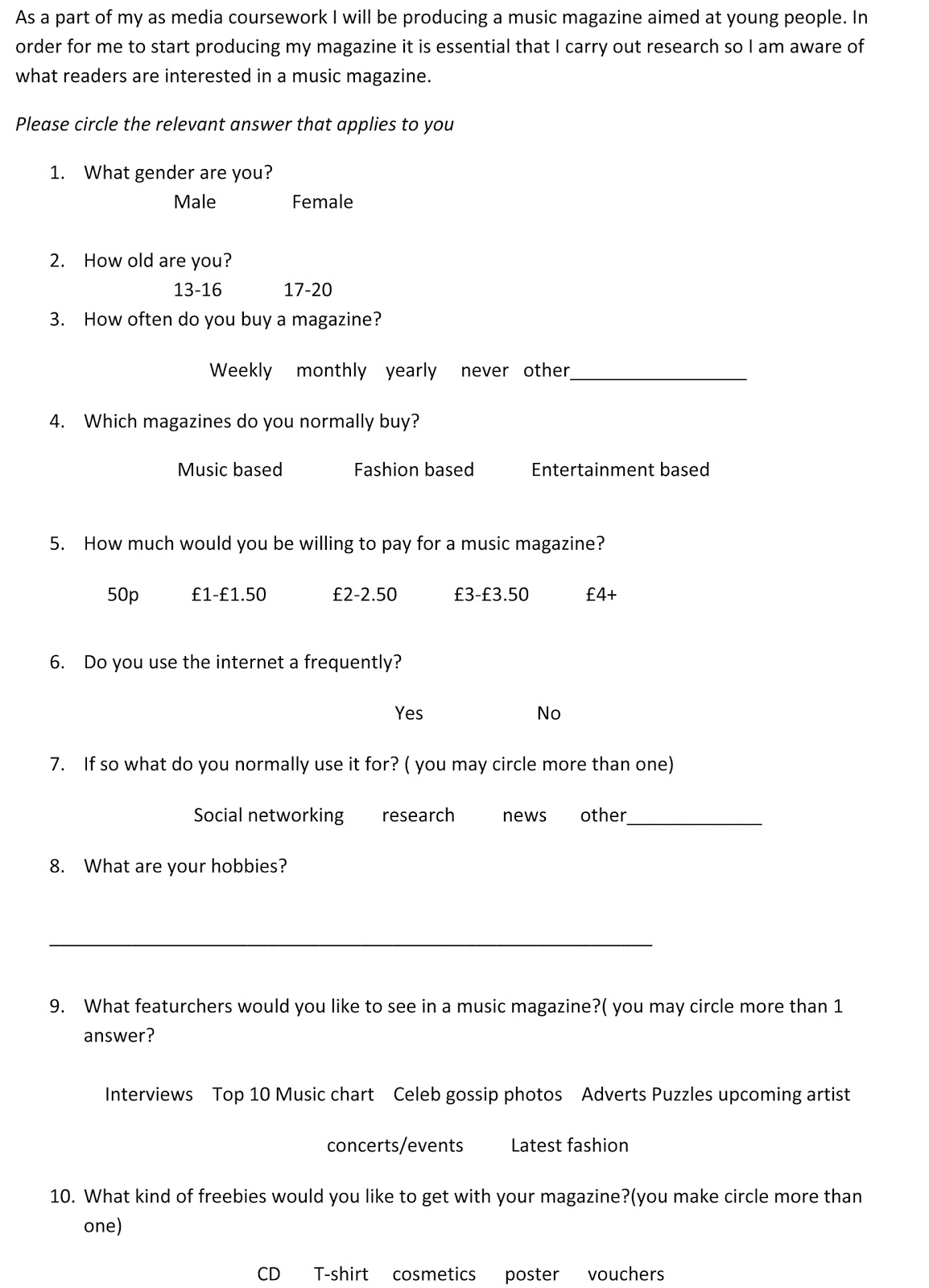 research questionnaires intended for dissertations online