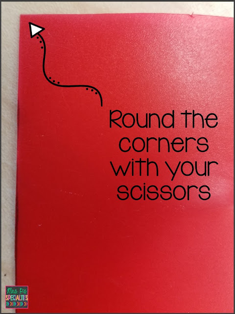 round the corners of the token strip with your scissors