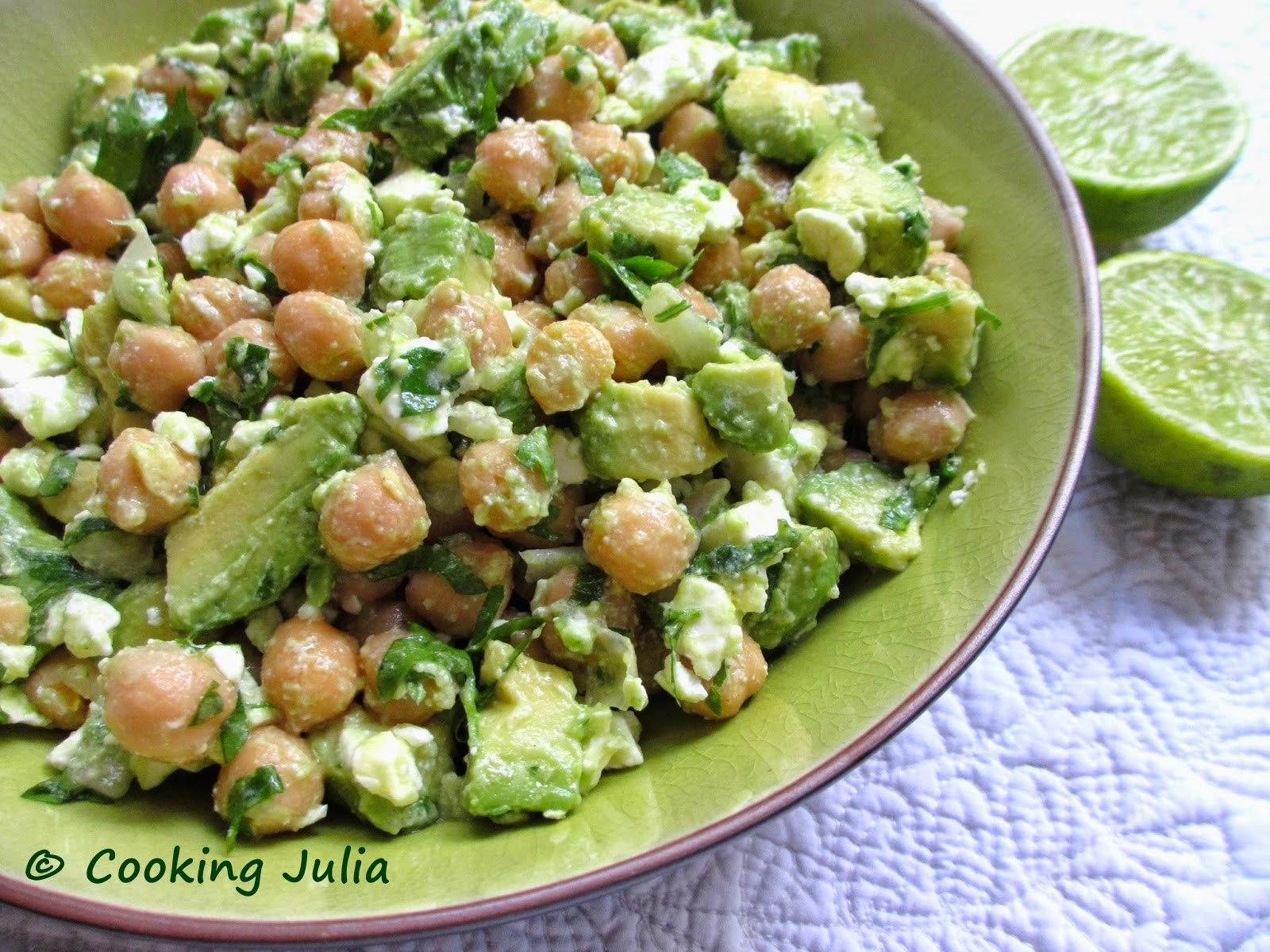 Cooking Julia Salade De Pois Chiches Avocat Et Feta
