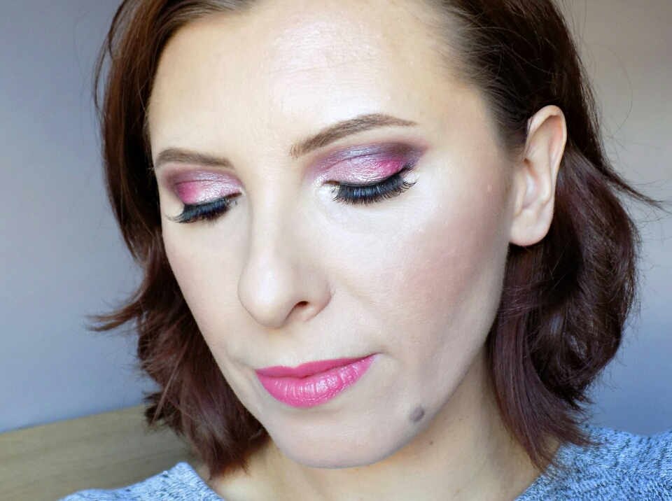 Pink makeup look using Too Faced Chocolate Bon Bon palette