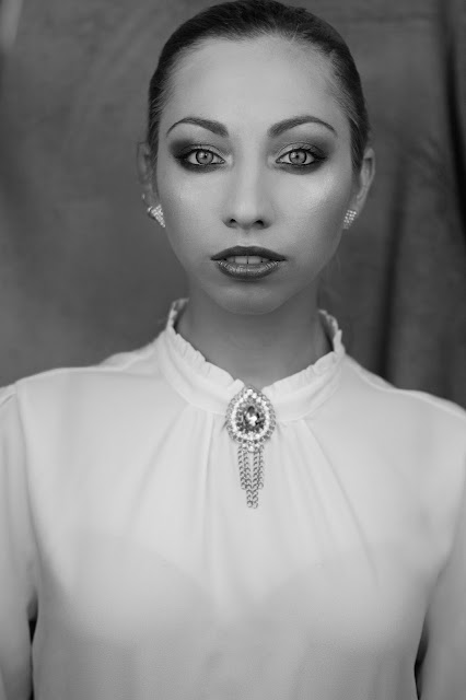 makijaż czarno biały
