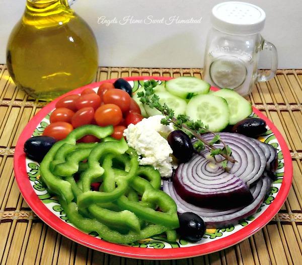 Greek Salad - Home Sweet Homestead