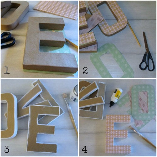 Decorar letras de carton ideas chulas - Letras para decorar ...