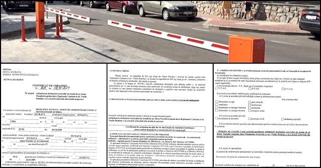 Certificat de Urbanism ilegal, fără avizul Poliției Rutiere, emis pentru parcarea privată a șefilor Prefecturii și CJ Suceava