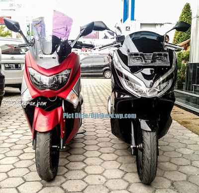 Perbandingan fisik New Honda PCX 150 vs Yamaha NMax 155