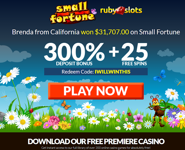 Ruby Slots Casino No Rules Bonus plus 25 Free Spins