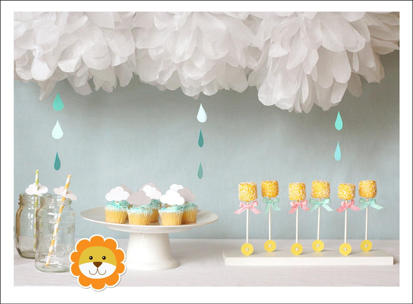 It 39 s written on the wall baby shower treats party favors cakes and decorations so much fun - Decoration baby shower fait maison ...