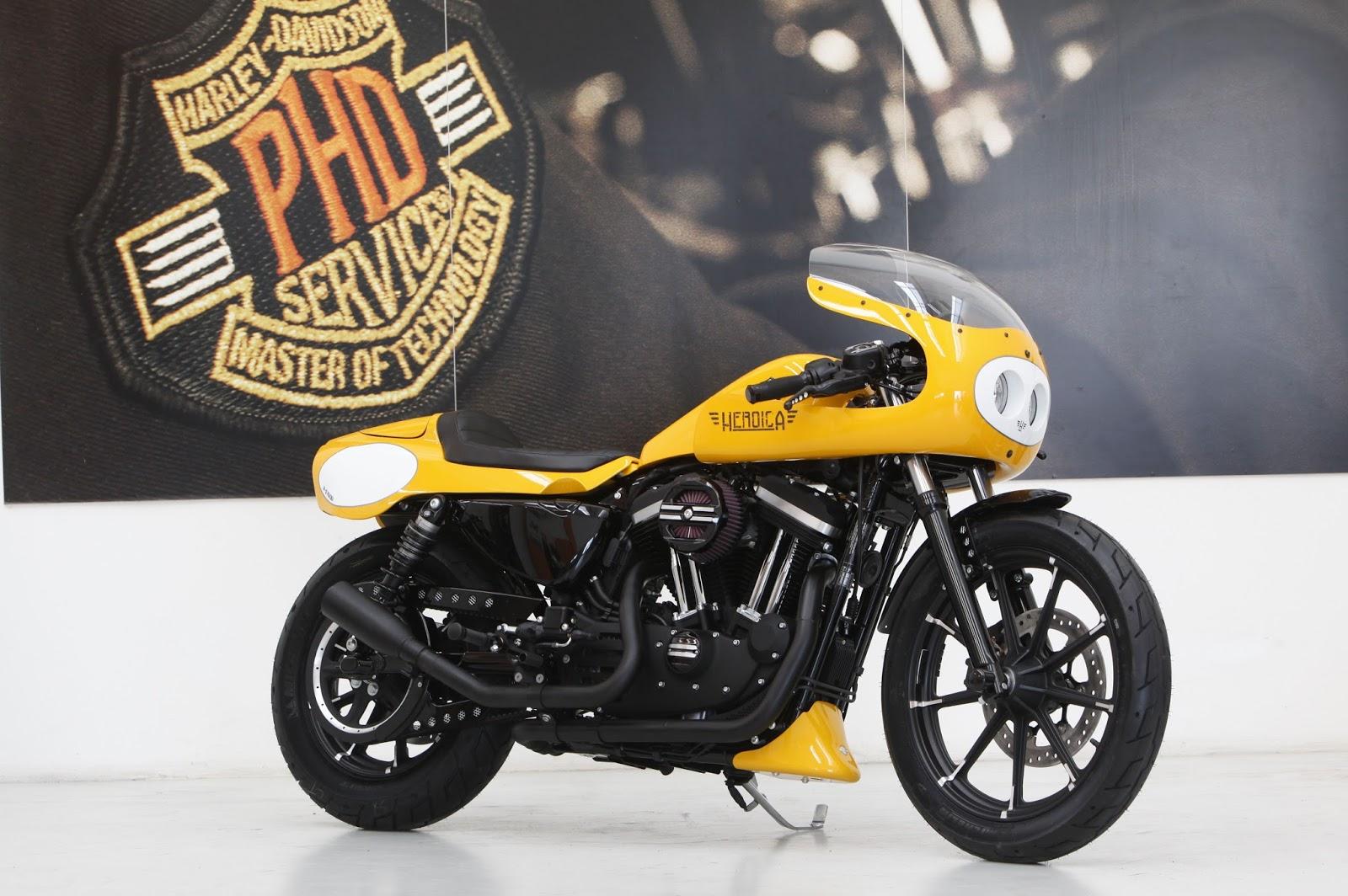Racing Caf U00e8  Harley Sportster 883  U0026quot Heroica U0026quot  By H